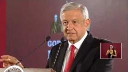 Plataforma para denunciar corrupción. Conferencia presidente AMLO