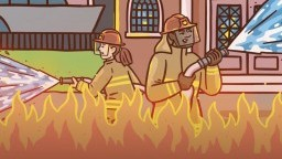 نصف حريق