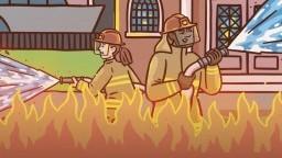 Половина пожар