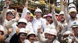 Supervisión de trabajos en refinería de Salina Cruz, Oaxaca